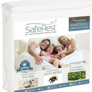 SafeRest Queen Size Premium Hypoallergenic Waterproof Mattress Protector