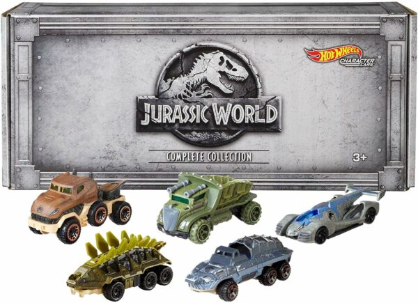 Hot Wheels Jurassic World Character Cars, 5 Pack