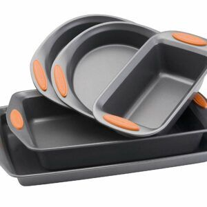 Rachael Ray 5 Piece Orange Handle Bakeware Set