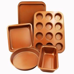 CopperKitchen 5 Piece Bakeware Set