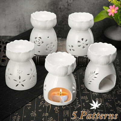 Essential Ceramic Oil Burners Wax Candle Incense Holder Aromatherapy Diffuser !