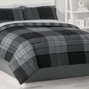 Plaid Reversible Comforter Set with Sheets