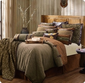HiEnd Accents Highland Lodge Collection Brown 5-piece Comforter Set - Twin