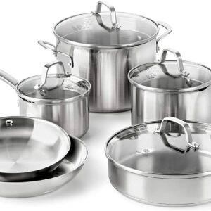 Calphalon Classic 10-Piece Cookware Set, Stainless Steel