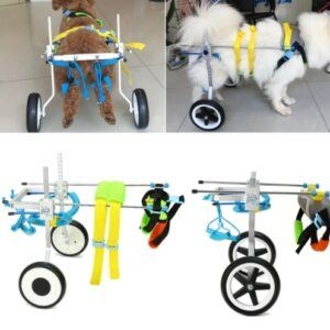 2 Sizes New Adjustable Aluminum Pet Wheelchair