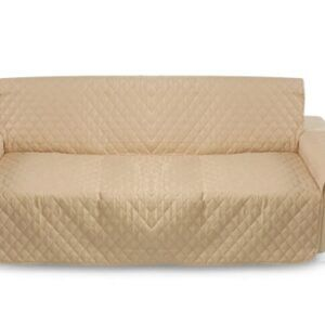 Khaki Pet Sofa Couch Protective Cover Pad 3 Seater