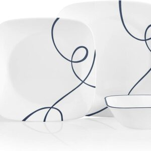 Corelle Service for 6, Chip Resistant Dinnerware Set