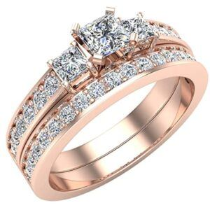 Bridal Set Princess-cut engagement ring