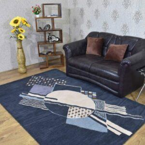 5x8 Rectangle Area Rug Contemporary Charcoal