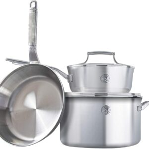 SAVEUR SELECTS 5-piece Tri-ply Stainless Steel Cookware Set