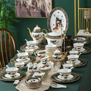 67 Pieces European Style Dinnerware Set