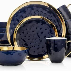 Stone Lain Gold Halo Porcelain Dinnerware Set